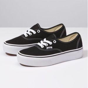 Vans Authentic Platform in Black